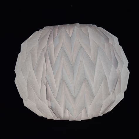 Shaped Paper Folding - white geometrical shaped folding paper lantern shade