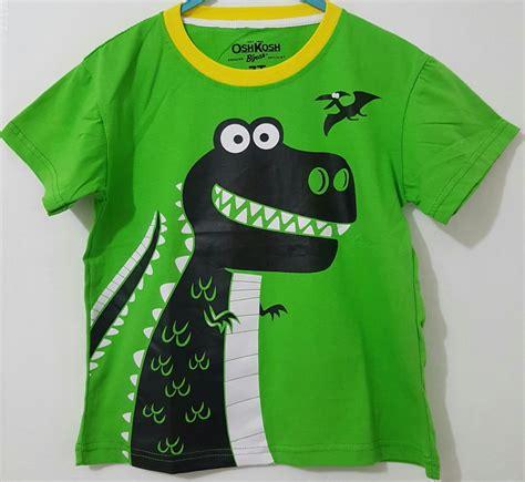 Kaos Anak Perempuan Oshkosh Originallokal 6 kaos oshkosh dinosaurus hijau 1 6 oshkosh grosir eceran baju anak murah berkualitas