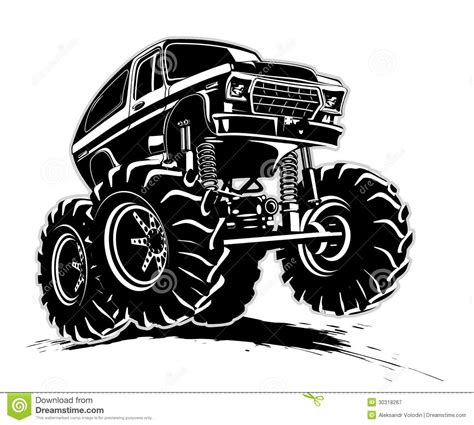 mud truck clip cartoon monster truck stock vector image of extreme
