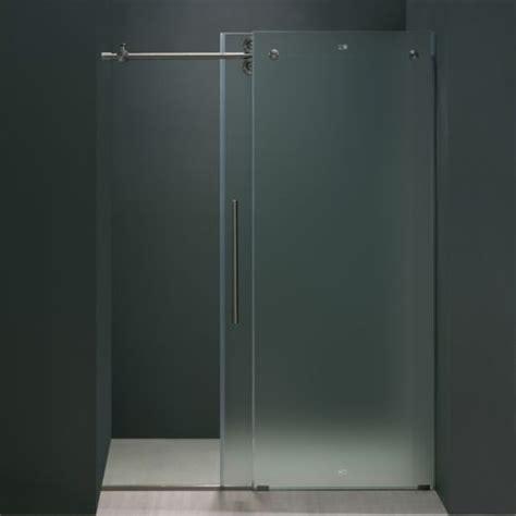 Frosted Glass Shower Door Frameless Frameless Glass Vigo Vg6041stmt4874r Frameless 48 Shower Door 3 8 Frosted Glass Right Special Deal