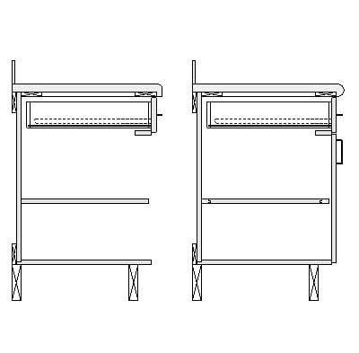 kitchen cabinet section building other detail component details