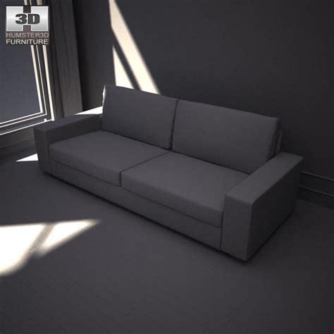 kivik three seater sofa ikea kivik three seat sofa 3d model hum3d