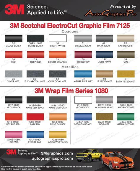 3m vinyl colors 3m scotchcal vinyl color chart earl mich on line catalog