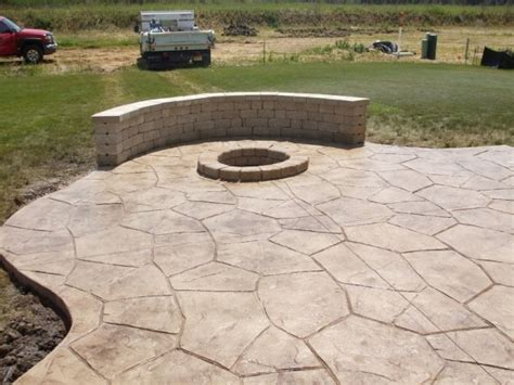 small concrete backyard ideas sted concrete patio with fire pit fire pit ideas
