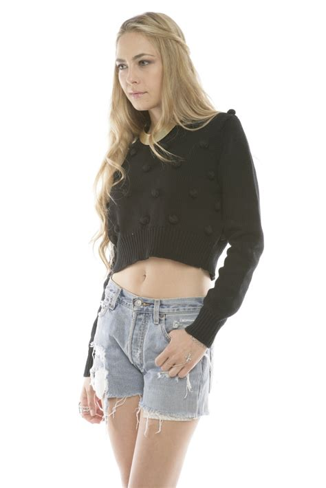 Pom Crope Hoodie Sweater 1 minkpink pom pom crop sweater from franklin by house of stella shoptiques