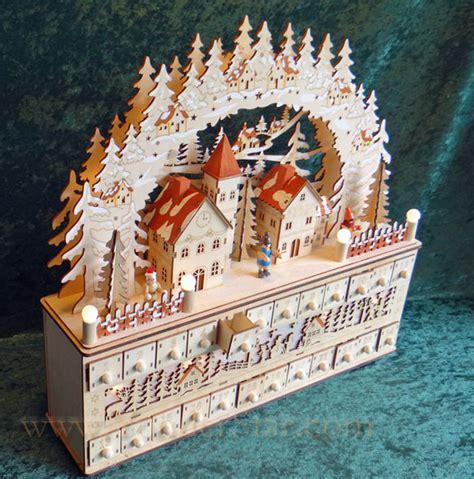 wooden advent calanders lighted wooden advent calendar winter pre order