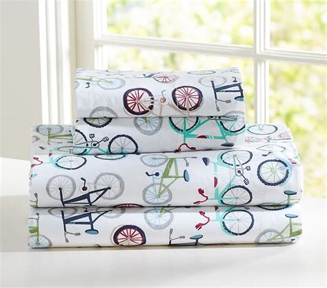 Bicycle Bedding Sets Bicycle Sheet Set Bedding San Francisco By Pottery Barn