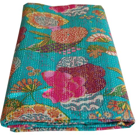 Quilts From India by Indian Kantha Printed Throw Quilts And Quilt Sets By Majestic India