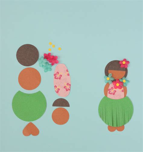 luau crafts for luau craft paper hula doll mirabelle creations