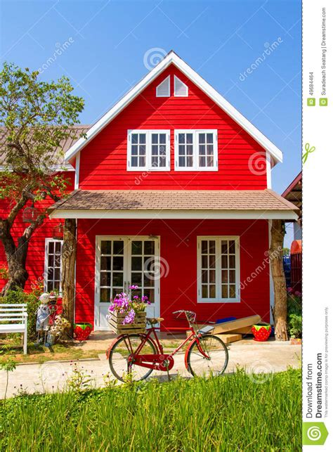 red house small red house stock photo image of country rural