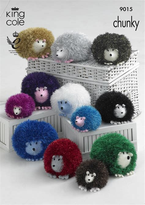 king cole free knitting patterns hedgehog knitted with tinsel chunky dollymix dk king cole