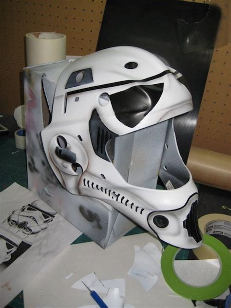 design goalie helmet storm trooper goalie mask airbrush work pinterest