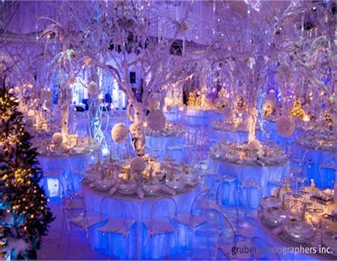 Icy blue winter wedding decor   { winter wonderland