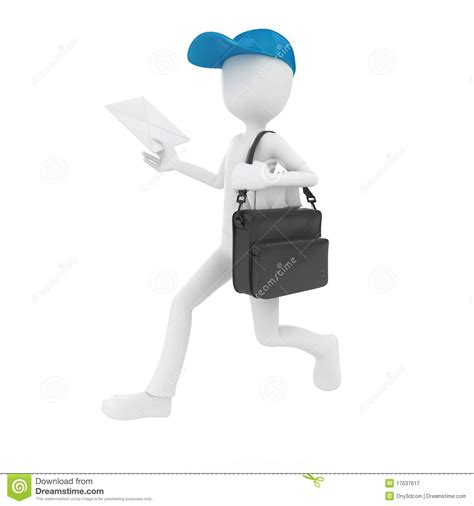 mail delivery 3d mail delivery stock illustration image of