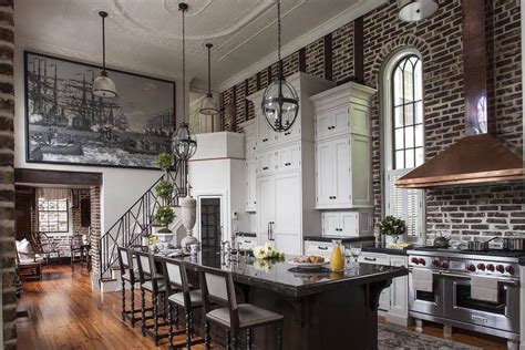 fantastic kitchen in this pre civil war home in charleston