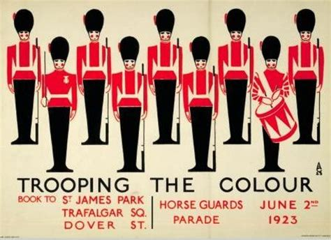 trooping the colour vintage london underground posters