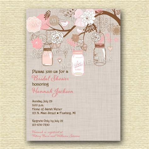 printable bridal shower invitation mason jar 8 best images of free printable mason jar design free