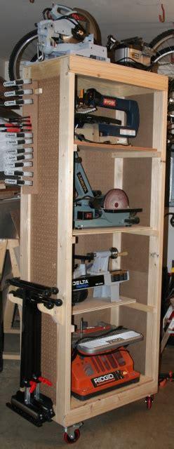 thefrankescom bench tool storage shelves