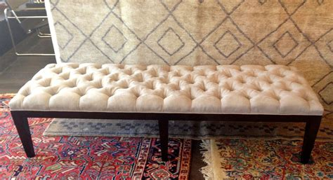 custom made ottoman hand crafted custom tufted ottoman by heaven antique and