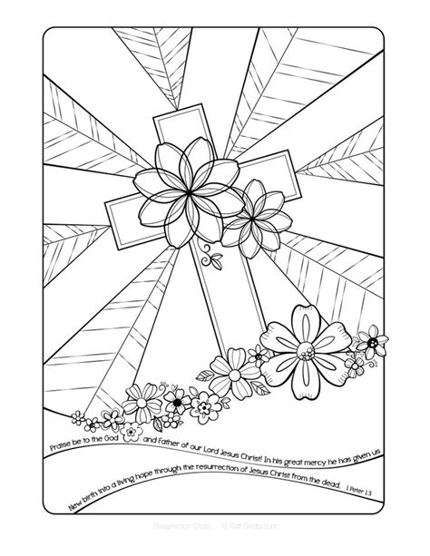 coloring pages religious education free easter cross adult coloring page coloring