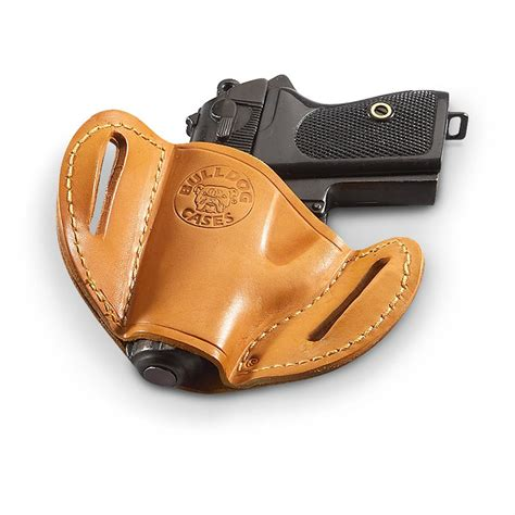 bulldog leather right handed belt slide holster 214149
