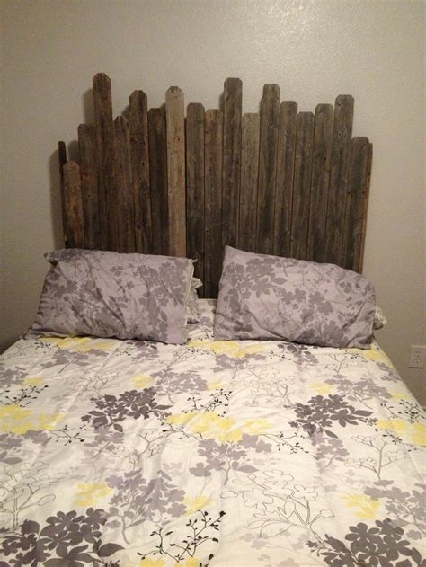 old wood headboard headboard made out of old wood craft ideas pinterest