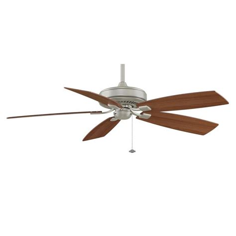 60 Inch Ceiling Fans Lowes by Shop Fanimation Edgewood Deluxe 60 In Satin Nickel Indoor