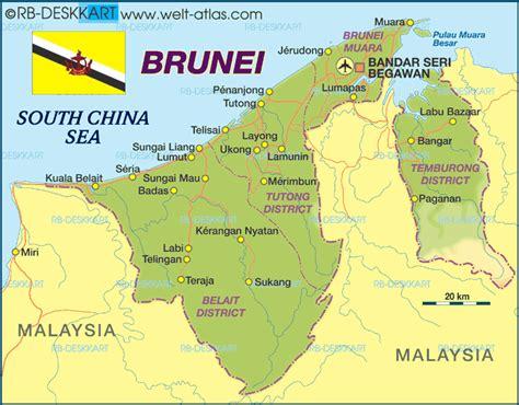 brunei map brunei map regional political maps of asia regional political city