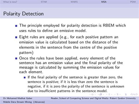 sentence pattern detector mobile data stream mining advances