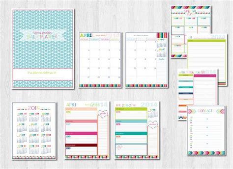 life organizer planner printable daily planners planners and organizers on pinterest