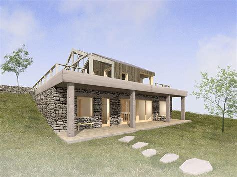 hillside home stone hillside house a1
