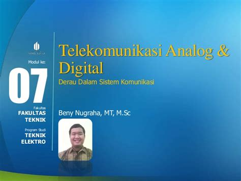 51380140so Komunikasi Analog Digital telekomunikasi analog dan digital slide week 7 derau dalam sistem