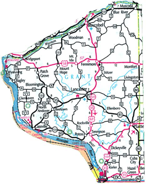 map grant grant county wisconsin county parks lake maps county maps
