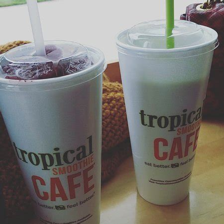 Tropical Smoothie Detox Island Green Ingredients by Tropical Smoothie Cafe American Restaurant 650 Lincoln
