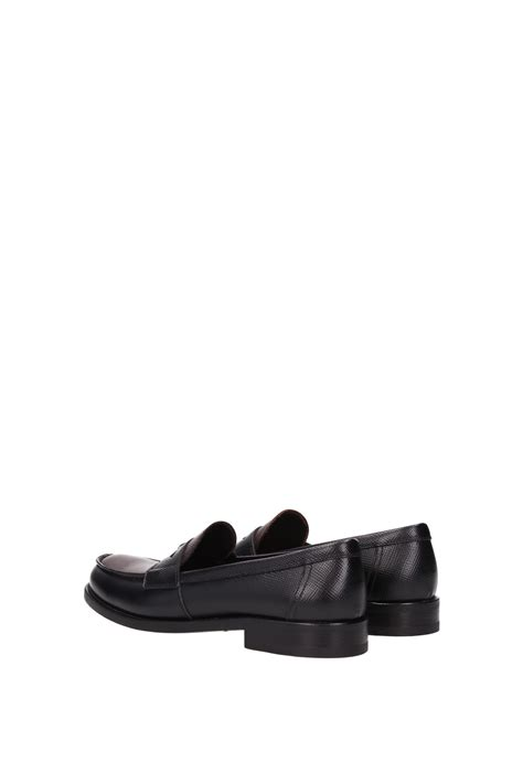 prada black loafers womens loafers prada leather black 1d055fnerocacao ebay
