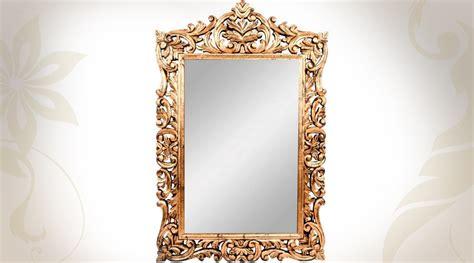 Grand Miroir Baroque by Grand Miroir Baroque Blanc En Acajou Sculpt 233