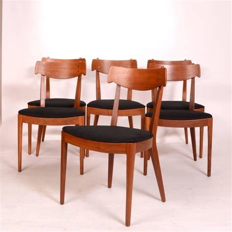 drexel dining room furniture set of six kipp stewart for drexel walnut declaration
