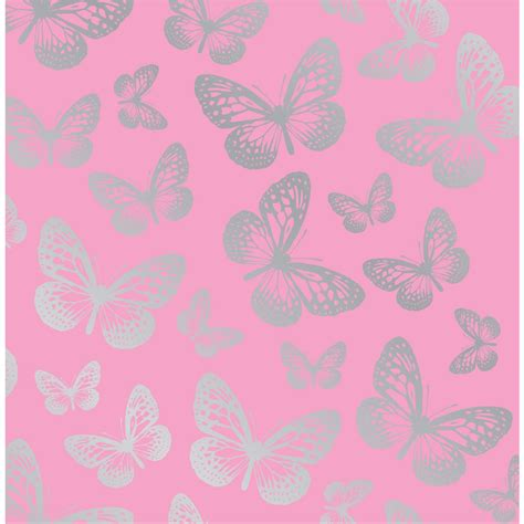 Pink Wallpaper Wilkinsons | wilko butterflies wallpaper
