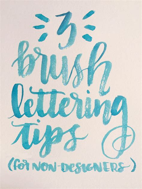 tutorial on lettering a beginner friendly brush lettering tutorial