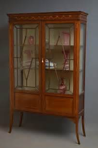 Antique Glass Display Cabinets Uk Edwardian Display Cabinet Antiques Atlas