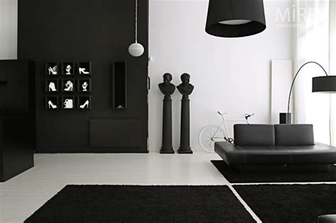 black decor black white statement decor
