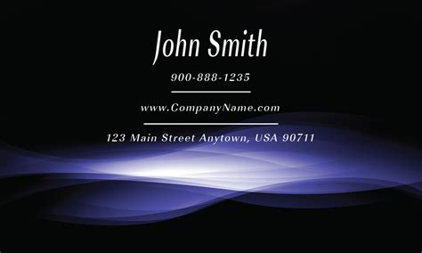 blue smoke shop business card design 1201661