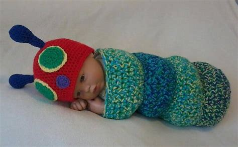 knitting pattern very hungry caterpillar crochet hungry caterpillar cocoon and hat set with free