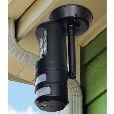 outside security lighting for homes the motion tracking security light hammacher schlemmer
