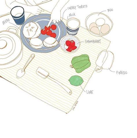 daily doodle diary 냠냠 테이블 위의 봄 illust illustration daily diary desert