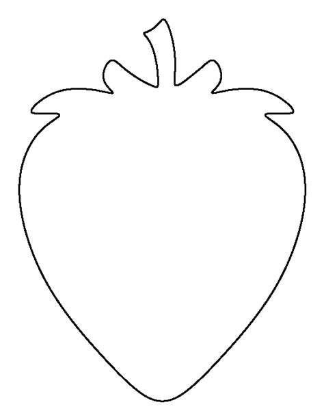 Strawberry Outline Drawing by Strawberry Pattern Use The Printable Outline For Crafts Creating Stencils Scrapbooking And