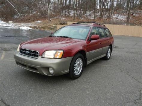 find used 2004 subaru legacy outback limited wagon awd no reserve 4 door 2 5l mint in