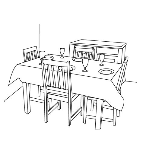 Dining Room Table Clipart Black And White Clipart Delfines Para Colorear Imagui