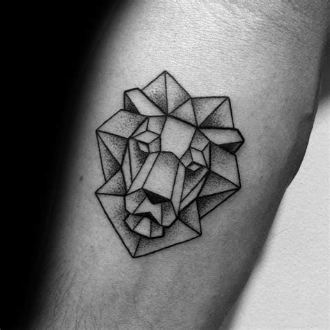 simple lion tattoo 60 geometric designs for masculine ideas