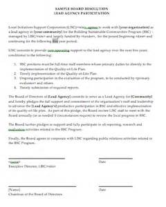 Board Resolution Template Singapore by Sle Ncp Board Resolution Lead Agency Participation